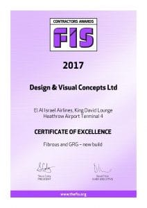 FIS certificate of excellence
