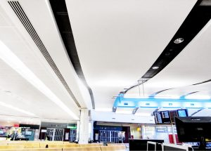 grg ceiling panelling heathrow airport