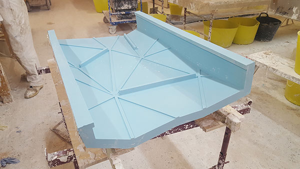 GRP Mould atrium bulkhead