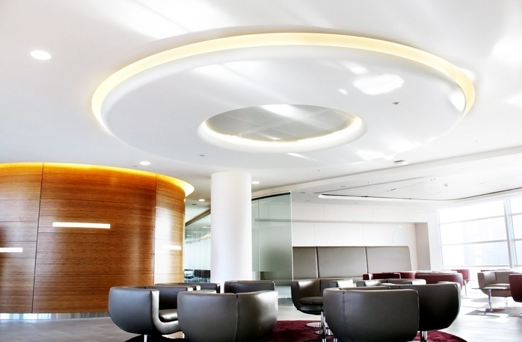 picture of grg column encasement and circular ceiling feature
