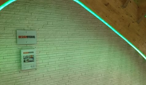 GRG 3D wall at Saint-Gobain Multi Comfort Visitor Centre