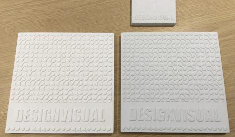 image of GRG and Jesmonite sample tiles
