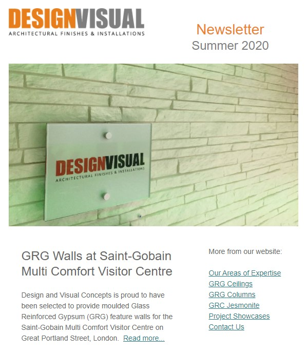 design and visual newsletter summer 2020