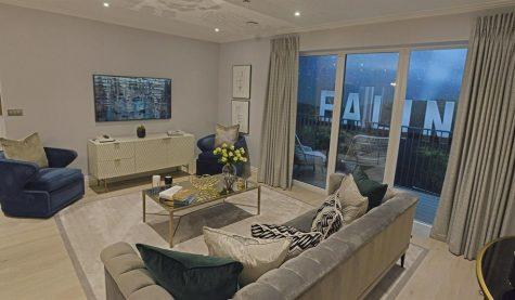 Filmworks Ealing apartment with GRG cornice