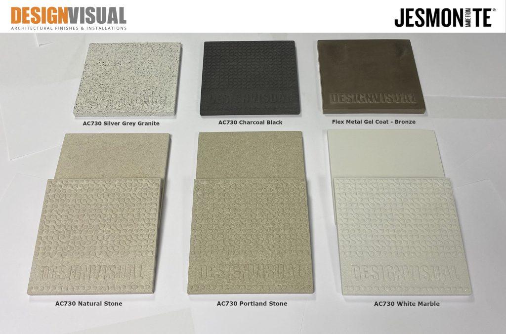 image of Jesmonite AC730 colour samples