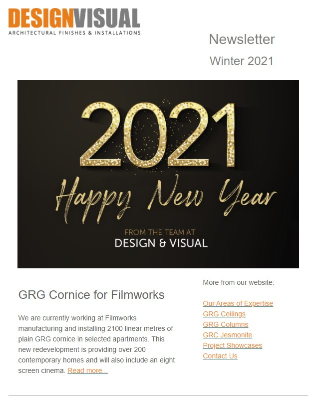 design and visual newsletter winter 2021